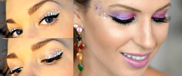 Maquiagem para o carnaval 2017 videos e fotos olhos com glitter