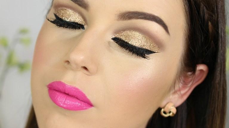 maquiagem para festa 2017 fotos e vídeos passo a passo, crie um make sombra esfumaçada dourada